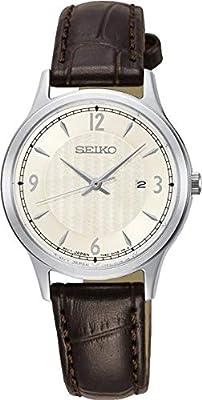 Seiko Reloj analogico para Mujer de Cuarzo con Correa en Piel SXDG95P1