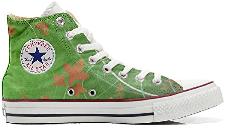 Converse Personalizzate all Star scarpe da ginnastica Unisex (Scarpa Artigianale) verde Fantasy | Qualità e quantità garantite  | Uomo/Donne Scarpa