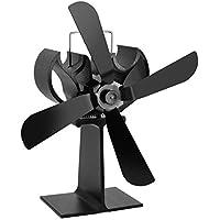 Chimenea térmica del ventilador eléctrico, chimenea ventilador, 4 cuchillas de energía térmica chimenea calor