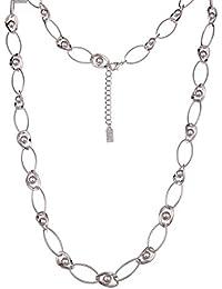 f3d53ab9e51092 Leslii Halskette Glieder Kugeln Silber | lange Damen-Kette Mode-Schmuck |  90cm +…
