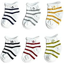 FYGOOD Unisex - Baby Socken Erstlingssöckchen, 6er Set