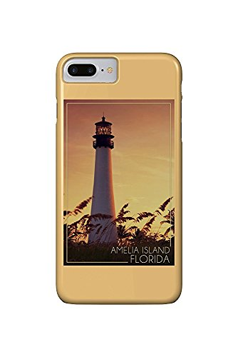 Amelia Island, Florida - Lighthouse and Seagrass (iPhone 7 Plus Cell Phone Case, Slim Barely There) - Amelia Island Lighthouse