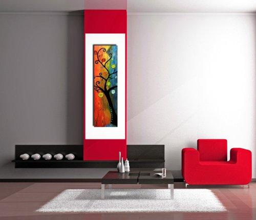 I colori del caribe quadri moderni olio su tela dipinti a mano quadri verticali quadro moderno - Quadri moderni per cucina ...