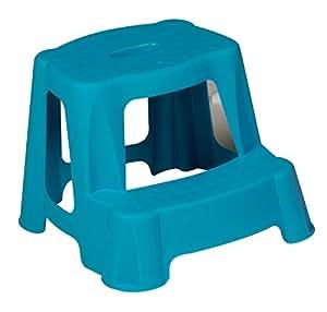 Blue Kids Step Stool Bathroom Plastic Potty Training