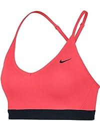 ce47b6b09 Nike Indy Bra Sujetador Deportivo, Mujer, Rojo (Ember Glow Black), S