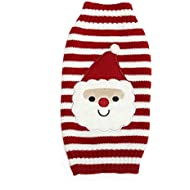 Red Cute Pet Puppy Cat Dog Warm Jumper Sweater Knitwear Coat Apparel Clothes Small Dog Puppy Sweater Christmas Santa Claus Costume