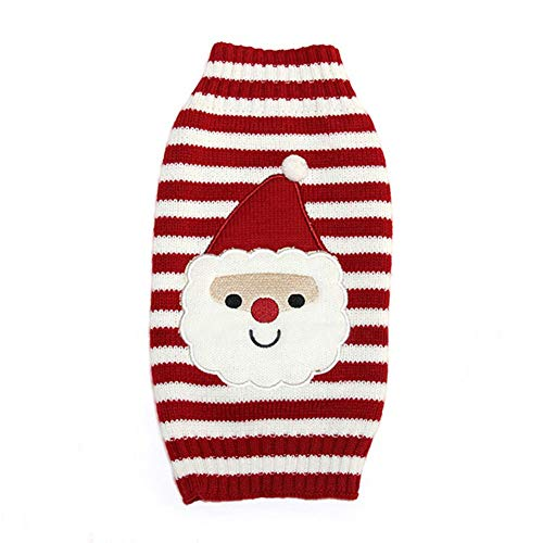 roter Netter Haustier welpen Katzen Hund Warmer Über brücker Strick Jacke Strick Waren Mantel Kleid Kleidung Kleiner Hund welpen Strick Jacke Weihnachts Sankt Kostüm