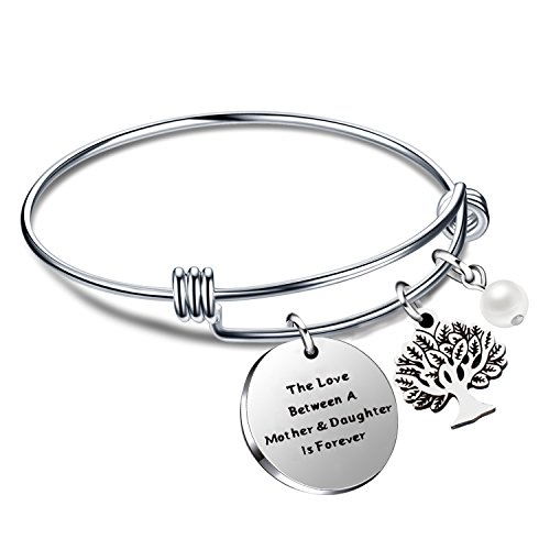 Mamma bracciale mom gift family tree tree of life the love between mother and daughter is forever