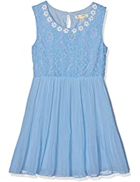 d0845841 YUMI Girl's Pearl Flower Lace Dress (Pale Blue)