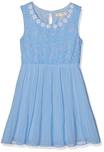 Yumi Pearl Flower Lace Dress (Pale Blue), Vestido para Niños Yumi