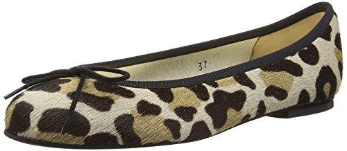 French Sole Henrietta Jaguar Ponyhair, Ballerine Donna Beige (Beige (Leopard))
