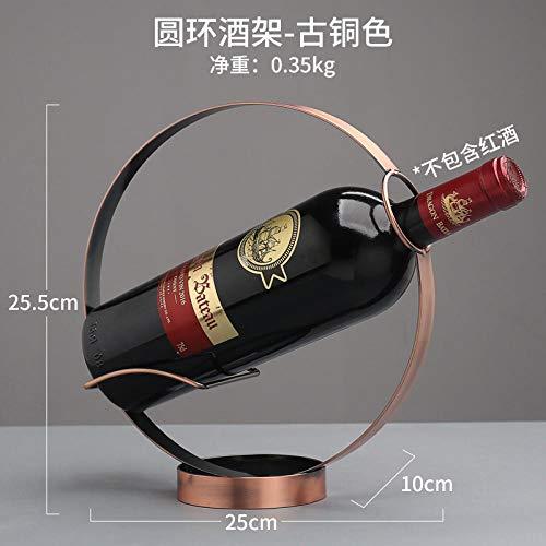 KXCTQ Wine Display Wine Rack, Großhandel Runde Schmiedeeisen Weinregal, Wohnzimmer Zähler Weinlagerung Schmiedeeisen Wein Display, 4 (Display-racks, Großhandel)