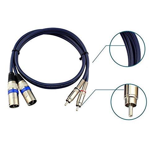 Huahan Haituo 2 XLR Stecker auf 2 RCA Cinch Stecker Pro Audio Verlängerungskabel Adapter Serie Twin Cinch Stecker auf Twin XLR Male Kabel (1 m) (9.84 ft) Serie-cinch-y-adapter