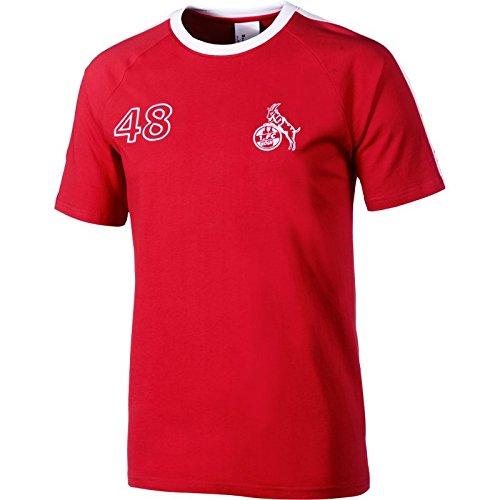 uhlsport 1.FC Köln Retro T-Shirt 1948 Rot-Weiß Rot-Weiß, 3XL (100 Köln Herren Für)