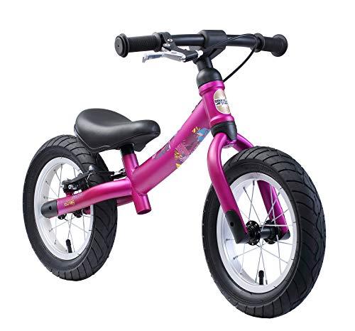 BIKESTAR Mitwachsendes Kinder Laufrad Lauflernrad Kinderrad für Mädchen ab 3 - 4 Jahre | 12 Zoll Flex Sport Kinderlaufrad Berry | Risikofrei Testen