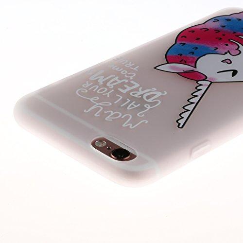 Coque iphone 7 plus Coque Silicone Souple Motif Original, Meet de Givré Coque TPU Slim Bumper [Shock-Absorption Bumper et Anti-Scratch Effacer Back] pour iphone 7 plus Souple Housse de Protection Flex licorne