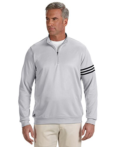 Men's climalite� 3-Stripes Pullover CHROME / BLACK 2XL (Windshirt Adidas)