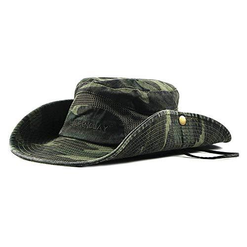 Unbekannt Fischerhut / -mütze, Sonnenbrillen mit breiter Krempe UV-Schutz, Sonnenschutzkappe / -mütze - zum Wandern Camping Reisen/c