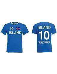 Island Retro Trikot mit Wunschname und Wunschnummer EM 2016