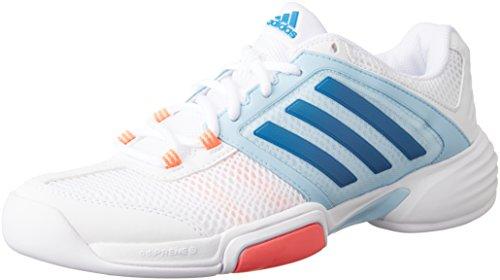 adidas Damen Barricade Club Cpt W Tennisschuhe, Blanco (Ftwbla / Azuuni / Rojdes), 40 2/3 EU