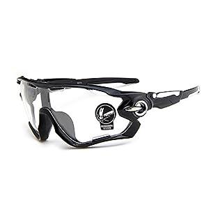 Gafas de sol Deportivas de Ciclismo Moto (Transparente) Forepin® pour Hombre et Mujer Polarizadas 100% Protección UV400 Unisex Clasico Ajustable Sunglasses para béisbol montar a caballo Conducir Correr Golf Actividades al aire libre
