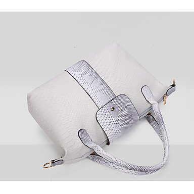 Donna sei lanosi ancorare una borsa a tracolla python granella sacchetto femmina joker portable croce obliqua bag,grigio White