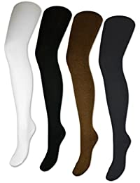 1 bis 4 Damen Strumpfhosen Strickstrumpfhose Feinstrick Schwarz Weiß Braun Anthrazit Grau - 10709
