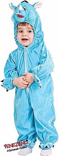 e Herstellung Kleinkinder Jungen Mädchen Rhino Safari Tier Kostüm Kleid Outfit 12-36 Monate - Blau, 3 Years ()