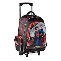 Warner Bros. Super Man School Trolley Bag for Boys - Black