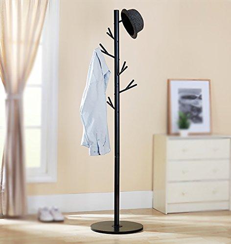 MOJ-YJ Moderne 6 Haken Tall Metal Coat Stand und Hut Display Hall Tree Hanger mit Schutz Anti-Tearing Caps Füße für Home Office Flur Living (Farbe : - Tree Coat