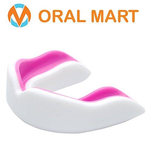Oral Mart Jóvenes Boca Protector para niños - Protector bucal de Juventud para el Karate Jóvenes (Edad 10 y por Debajo) Blanco/Rosa