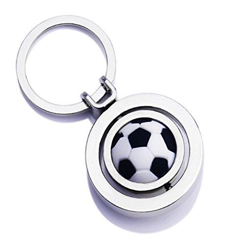 WODEJIAYUAN Nettes Art und Fußball Keychain Schlüsselring Keyfob Schlüsselring-Auto-Schlüsselring-hängendes Geschenk 3D hängendes (Gefroren Für Drei-jährige)