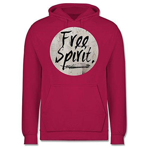 Statement Shirts - Free Spirit - Männer Premium Kapuzenpullover / Hoodie Fuchsia