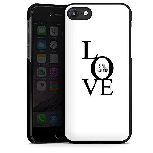 Apple iPhone X Silikon Hülle Case Schutzhülle Love Liebe Sprüche Hard Case schwarz