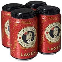 La Virgen Cerveza Latas de Lager - Paquete de 4 x 330 - Total: 1320
