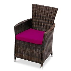 41wI8Oz9VlL. SS300  - Gardenista® | Garden Replacement Seat Cushion for Garden Rattan Chair Outdoor Patio Furniture (1Pcs, Pink)