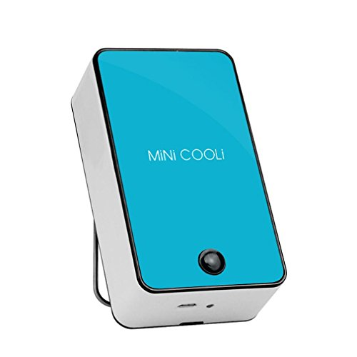 Mini Klimaanlagen Ventilator FORH Mobile Luftkühler Hochwertige Tragbare Fan USB Leicht Outdoor Lüfter Kühler Luftkühler Kraftvoller und geräuscharmer Turbo-Ventilator Air Cooler (Blau)