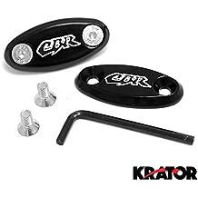 Krator Honda CBR 600RR F4F4i 900RR 929954CBR 1000RR espejo bloque Off platos logotipo grabado negro 1999200020012002200320042005200620072008200920102011
