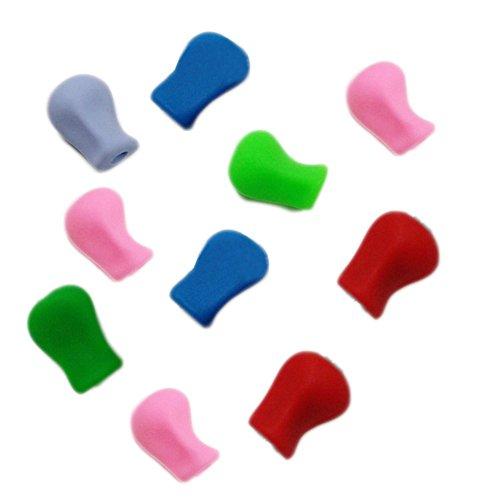 Scrox 10 Stücke Kreative Farben Bleistift Griffe Griffhalter Bleistift Grips Silikon Schreibhilfen...