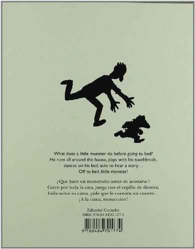 Copertina del libro A LA CAMA MONSTRUITO - BILINGUE (CES)