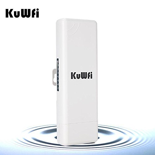 KuWFi Outdoor WLAN Access Point, WLAN-Repeater Wireless Outdoor CPE 2KM Entfernung 150Mbps Outdoor Wireless Access Point WIFI Bridge CPE Router