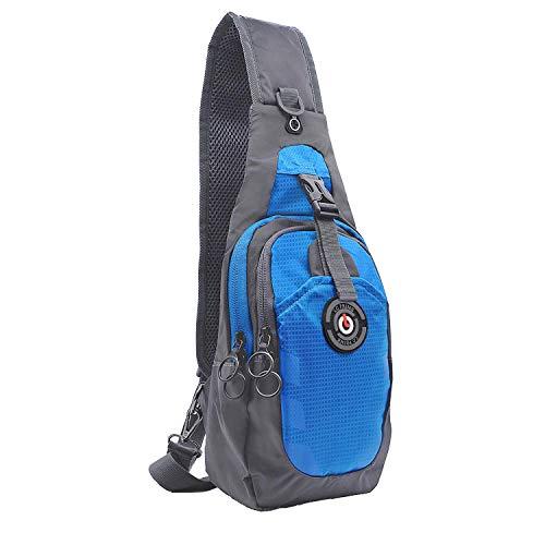0e74c68b99 LC Prime Sling Bag, RFID Blocage Petit Compact Double-Fermeture Épaule Sac,  pour