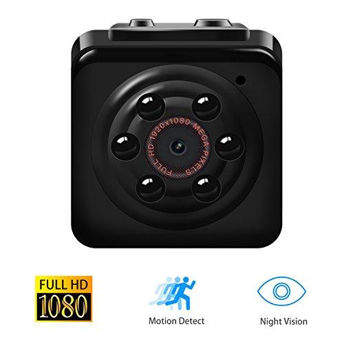 【Upgrade-Version】1080P Mini Cam Surveillance Kamera Vaxiuja Full HD Tragbare Kleine Nanny Cam mit Nachtsichtgerät für Zuhause / Büro / Garten / Garage / Indoor / Outdoor Sicherheit Kamera