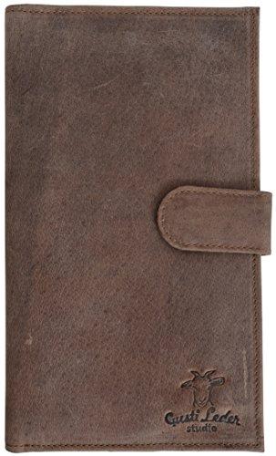 """Gusti Leder studio """"Sharon"""" Portamonete porta documenti banconote carte di credito elegante marrone 2A47-17-1"""