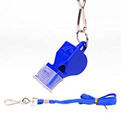 Idea Regalo - Gaddrt 4.5 cm ABS plastica sport arbitro fischietto di emergenza kit di sopravvivenza outdoor Football, Blue