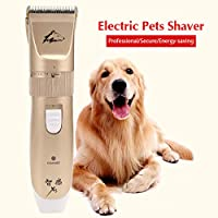 YMJ Electric Pet Dog Hair Trimmer USB Rechargeable Cat Pets Shaver Clippers Intelligent Razor Comb Dog Haircut Machine Grooming Tool
