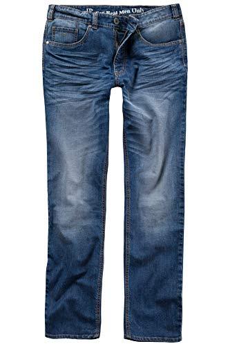 JP 1880 Herren große Größen bis 66 | Jeans | Hose aus Stretch-Denim | 5-Pocket-Schnitt | Washed Look | Straight Fit | auch untersetzt | elastischer Bund & Gürtelschlaufen | Blue Denim 32 706546 92-32
