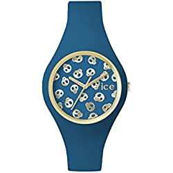 Ice Watch Ice Skull Deep Water Small Women's Quartz Analogue Watch with Blue Dial and Blue Silicone Bracelet ICE.SK.DWR.S.S.15