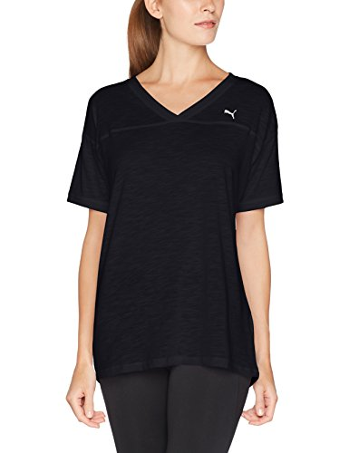 PUMA Damen Boyfriend Tee T-Shirt, Puma Black Heather, XS (Sport Heather)