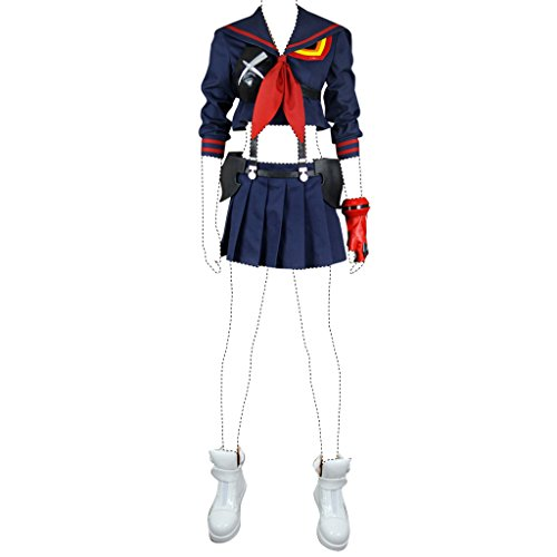 Holysteed Kill La Kill Cosplay Costume Ryuko Matoi Costume Set Large (Ryuko Cosplay Kostüm)